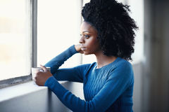 Taking time out before her busy day Royalty Free Stock Image