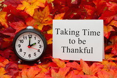 Taking time to be thankful
