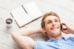 Taking time to relax. Stock Images