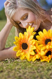 Taking Time To Smell The Flowers Stock Photography