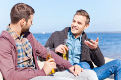 Taking time to talk with friend. Stock Images