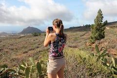 Taking vacation photos royalty free stock photo