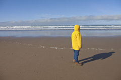 Taking a walk on the Oregon coast. Stock Photos