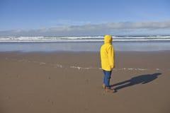 Taking a walk on the Oregon coast. Stock Photos