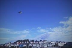 TakingoffPlane Fotografia Stock