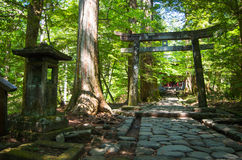 Takinoo寺庙-日光,日本 免版税图库摄影