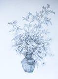 Takjes in een vaas, potloodillustratie Stock Foto's