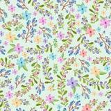 Takjes en bloemenpatroon Stock Foto