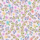 Takjes en bloemenpatroon Royalty-vrije Stock Foto