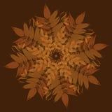 Takken met bladeren uitstekend ornament Royalty-vrije Stock Foto