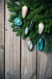 Takken met Kerstmisdecoratie Royalty-vrije Stock Afbeelding