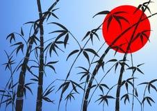 Takken van een bamboe Royalty-vrije Stock Afbeeldingen