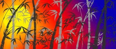 Takken van een bamboe Royalty-vrije Stock Foto