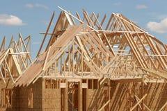 taklägga för konstruktion royaltyfri foto