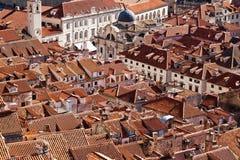 Taklägger av Dubrovnik Royaltyfria Bilder