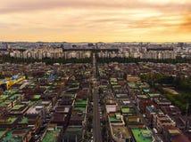 Taklägger Sydkorea för flyg- sikt royaltyfri foto