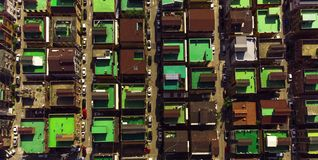 Taklägger Sydkorea för flyg- sikt fotografering för bildbyråer