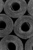 Taklägga filt Rolls av bitumen Fotografering för Bildbyråer