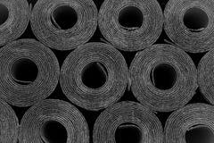 Taklägga filt Rolls av bitumen Royaltyfri Foto