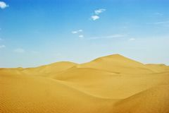 Taklimakan Desert Royalty Free Stock Images