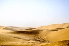 Taklimakan Desert of Xinjiang, China royalty free stock photo
