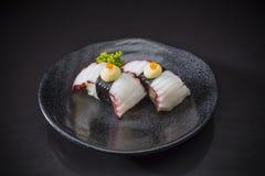 Tako Nigiri, tako de sushi photographie stock