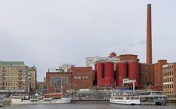 Tako-Pappfabrik in Tampere Stockfotografie