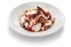 Tako poke. Hawaiian octopus salad Royalty Free Stock Photography