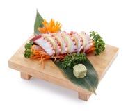 Tako sashimi. Delicious tako sashimi isolated on white background royalty free stock images