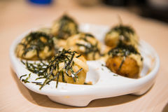 Tako yaki in Japanese restaurants Stock Image