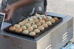 Tako yaki. Street food at walking street market Koh Phangan, Thailand Stock Photography