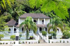 Takoma theological college and the Mission House in Rarotonga Co Stock Image