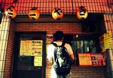 Takoyaki在东京 库存图片