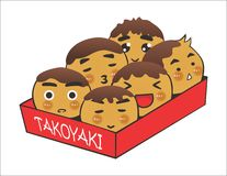Takoyaki Στοκ φωτογραφία με δικαίωμα ελεύθερης χρήσης