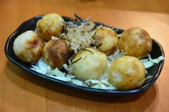 Takoyaki, alimento giapponese Fotografie Stock Libere da Diritti