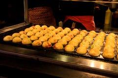 Takoyaki cooking Royalty Free Stock Photo
