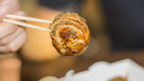 Takoyaki, delicious Japanese style octopus pancake, Stock Images
