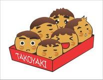 Takoyaki. Ilustration of japanese famous street food vector illustration