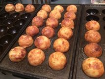 Takoyaki Japanese style. With octopus crabs tick seafood cabbage mayonnaise meat ball Stock Image