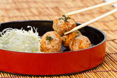 Takoyaki : Meat balls Stock Photo