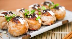 Takoyaki mellanmål royaltyfria bilder