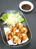 Takoyaki - menu in japan Royalty Free Stock Photo