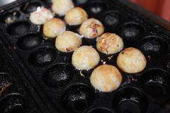 Takoyaki, octopus balls, japanese food Royalty Free Stock Photos