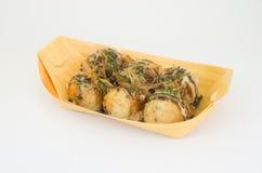 Takoyaki op een plaat Royalty-vrije Stock Fotografie