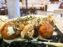 Takoyaki & x28; Polipo arrostito Balls& x29; Immagini Stock