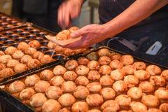 Takoyaki, popular japanese street food Royalty Free Stock Images