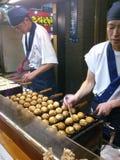 Takoyaki, stalle de boules de poulpe Image stock