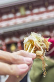 Takoyaki street food in Japan royalty free stock photo