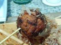 Takoyaki, typischer japanischer Teller Lizenzfreies Stockbild
