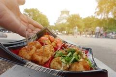 Takoyaki vier Arten sind von Osaka berühmt Lizenzfreies Stockfoto